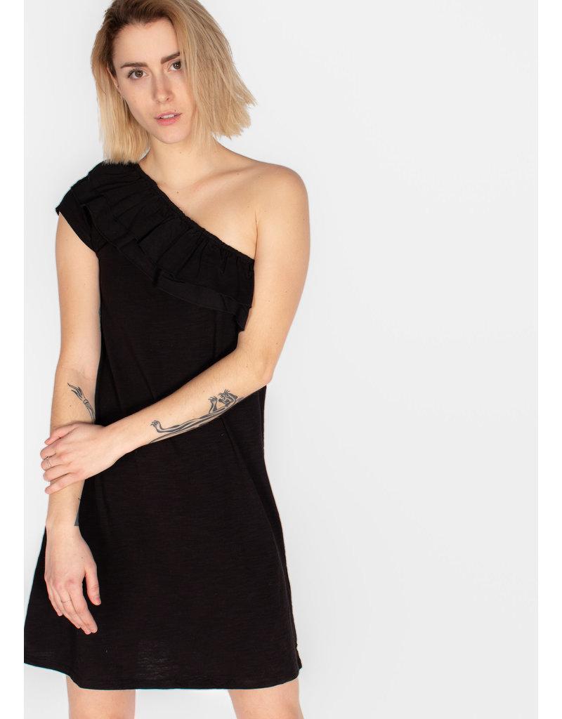 FRILLS ASSIMETRIC DRESS