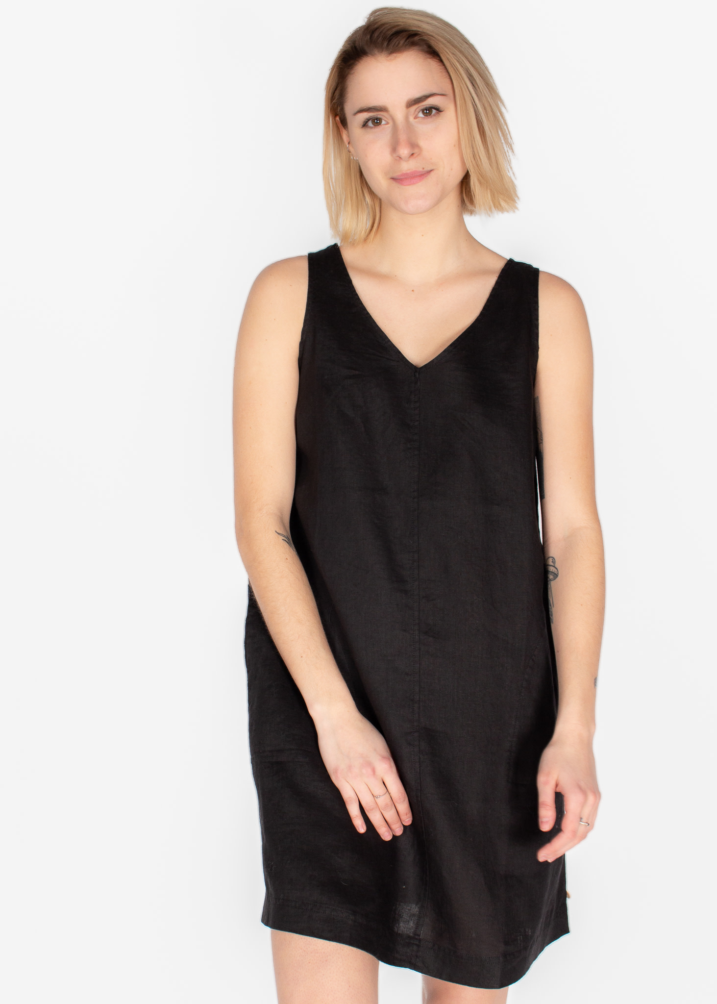 YERSE ORGANIC LINEN STRAPPY DRESS