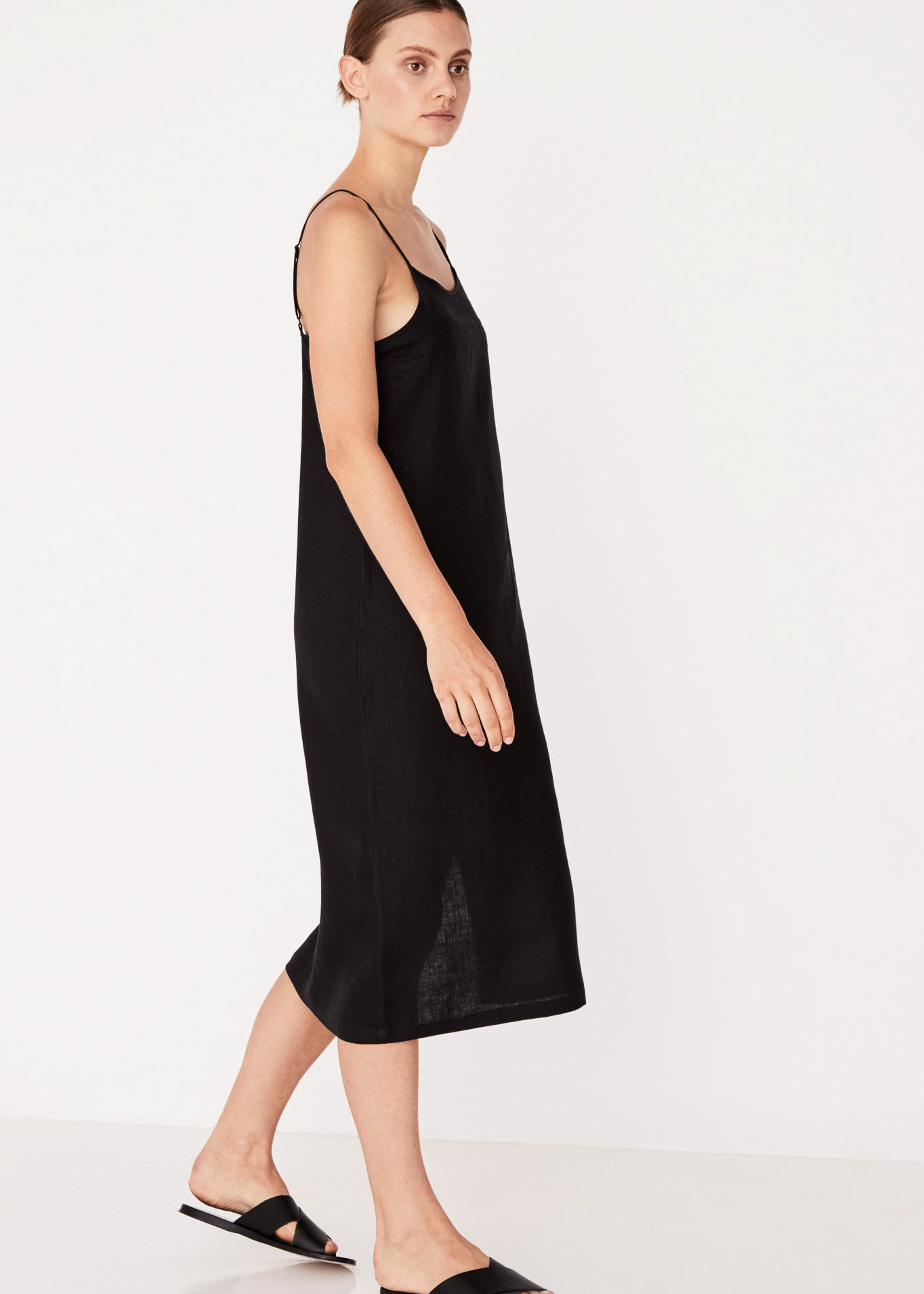 ASSEMBLY LABEL ANTON CAMISOLE DRESS BLACK