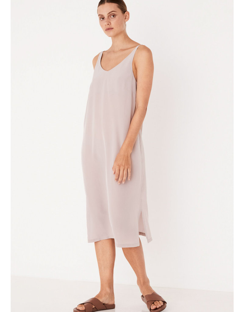 ASSEMBLY LABEL Silk deep v cami dress fawn