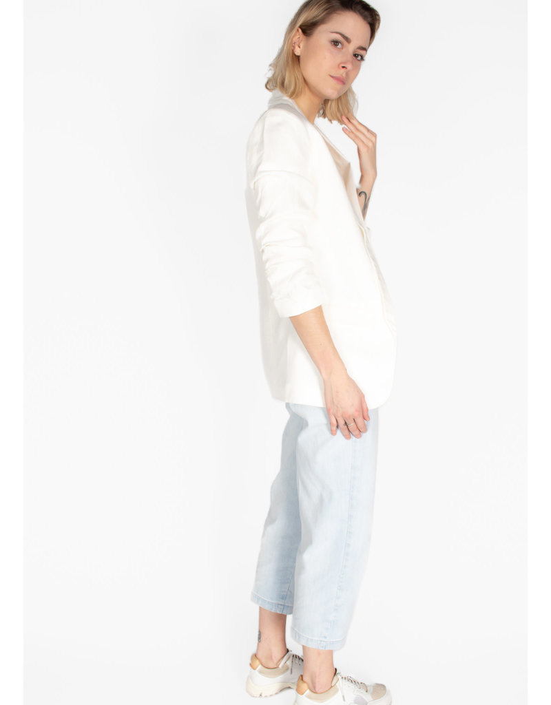 YAYA Blazer linen drape sleeves