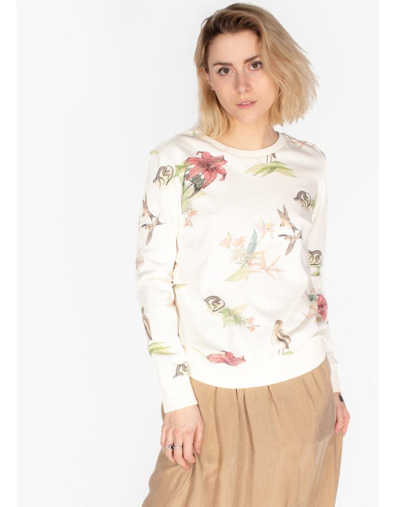 YAYA Jersey sweater with wild animal print chalk