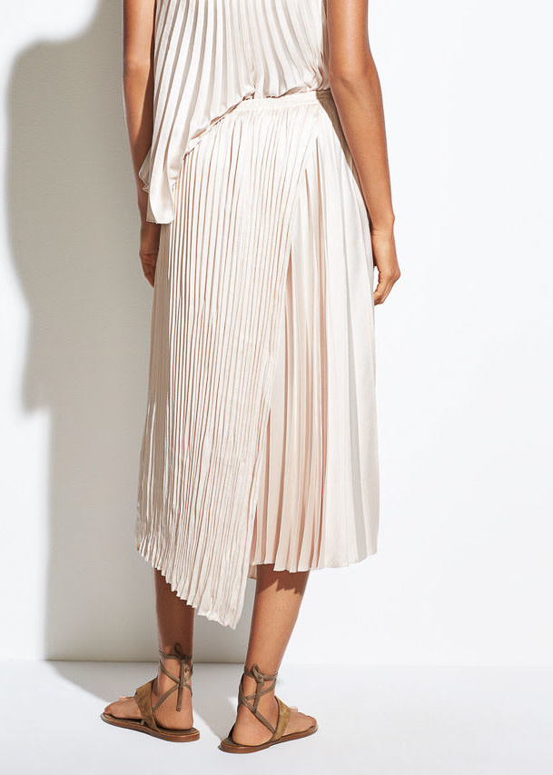 Mixed pleat skirt woven