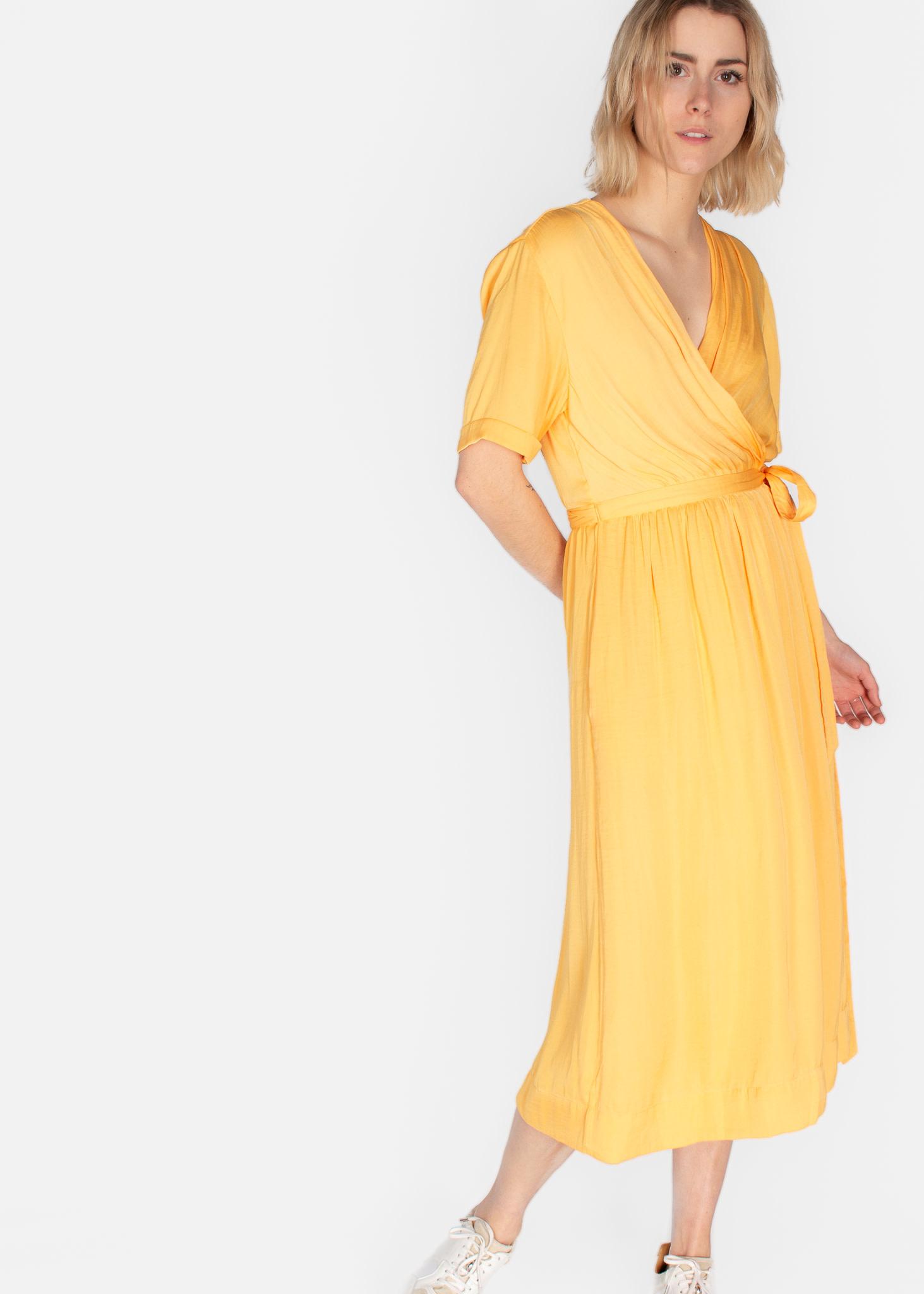 SCOTCH & SODA MIDI LENGTH WRAPOVER DRESS