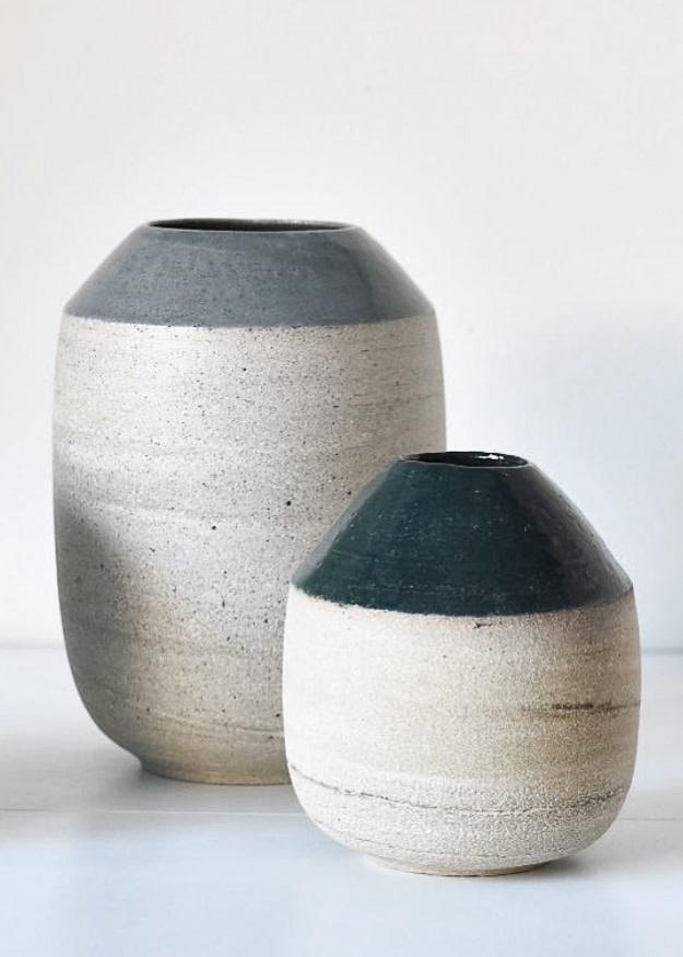 Tasjap Medium vase with green top