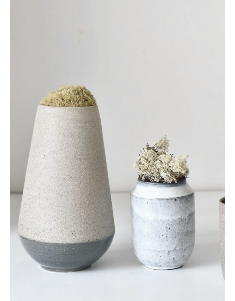 Tasjap Big vase with grey bottom