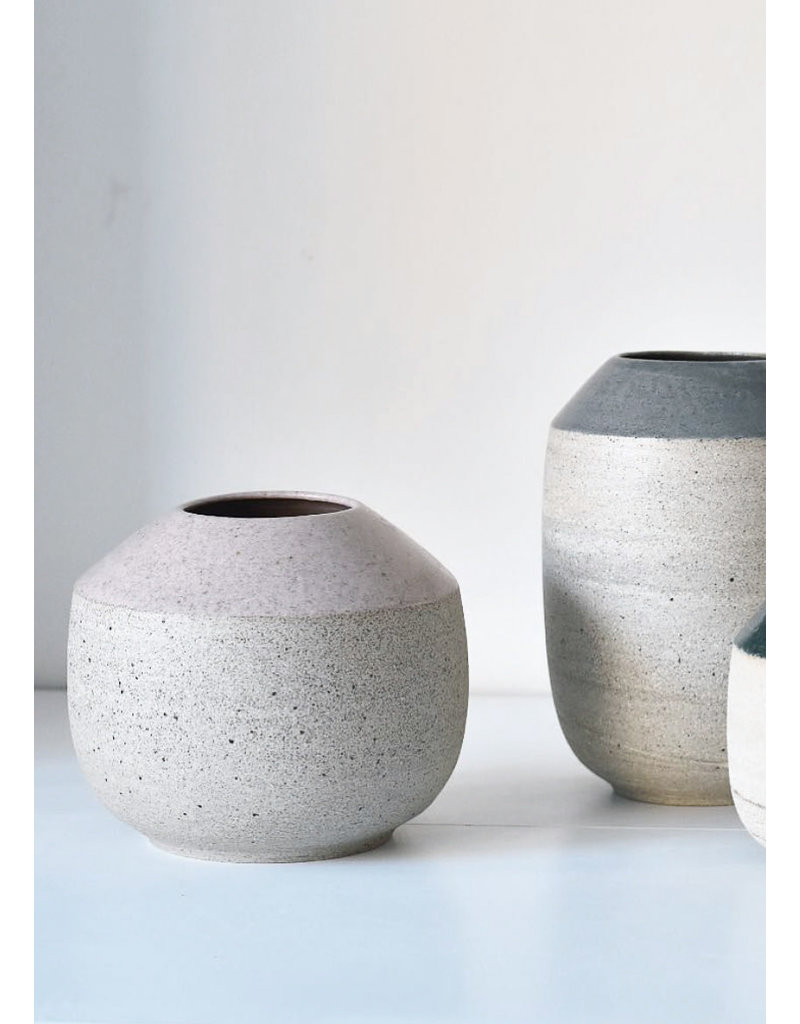 Tasjap Medium vase with pink top