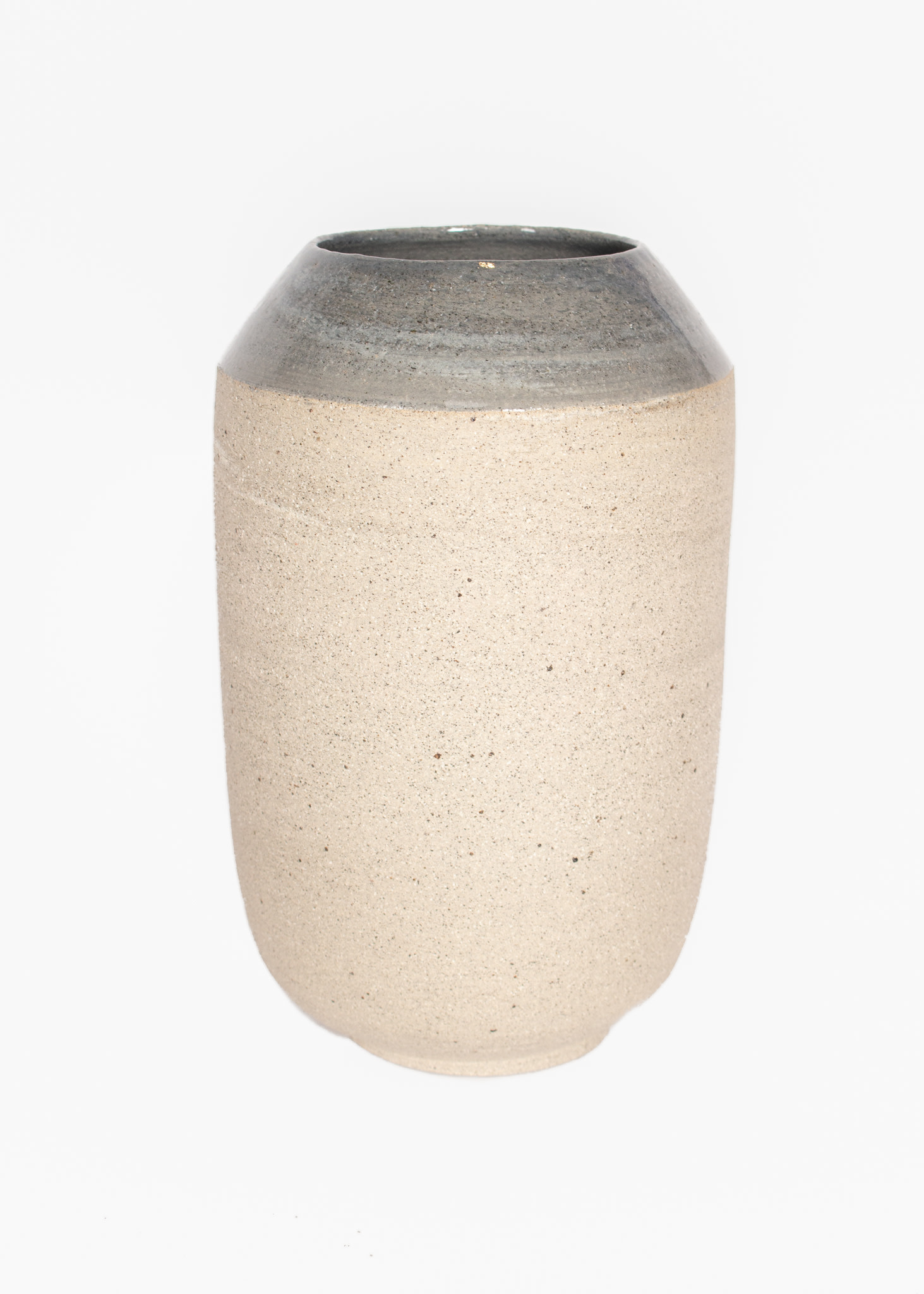 Tasjap Big vase with grey top