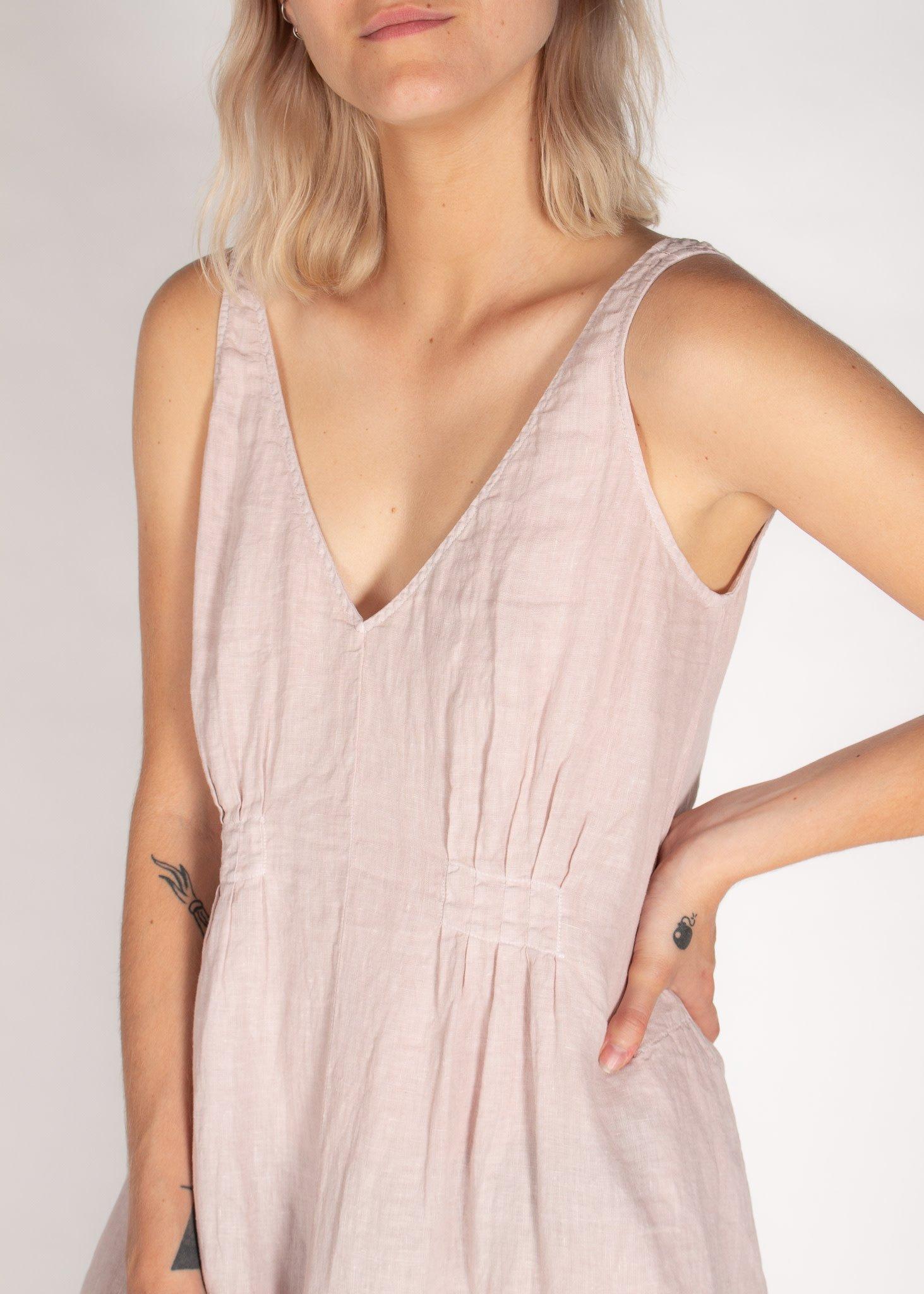 VELVET Brynne woven linen v-neck dress