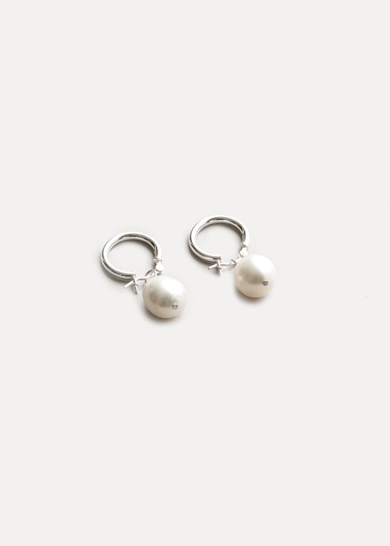 Pearlhoop small freshwater pearl hoop silver sterling