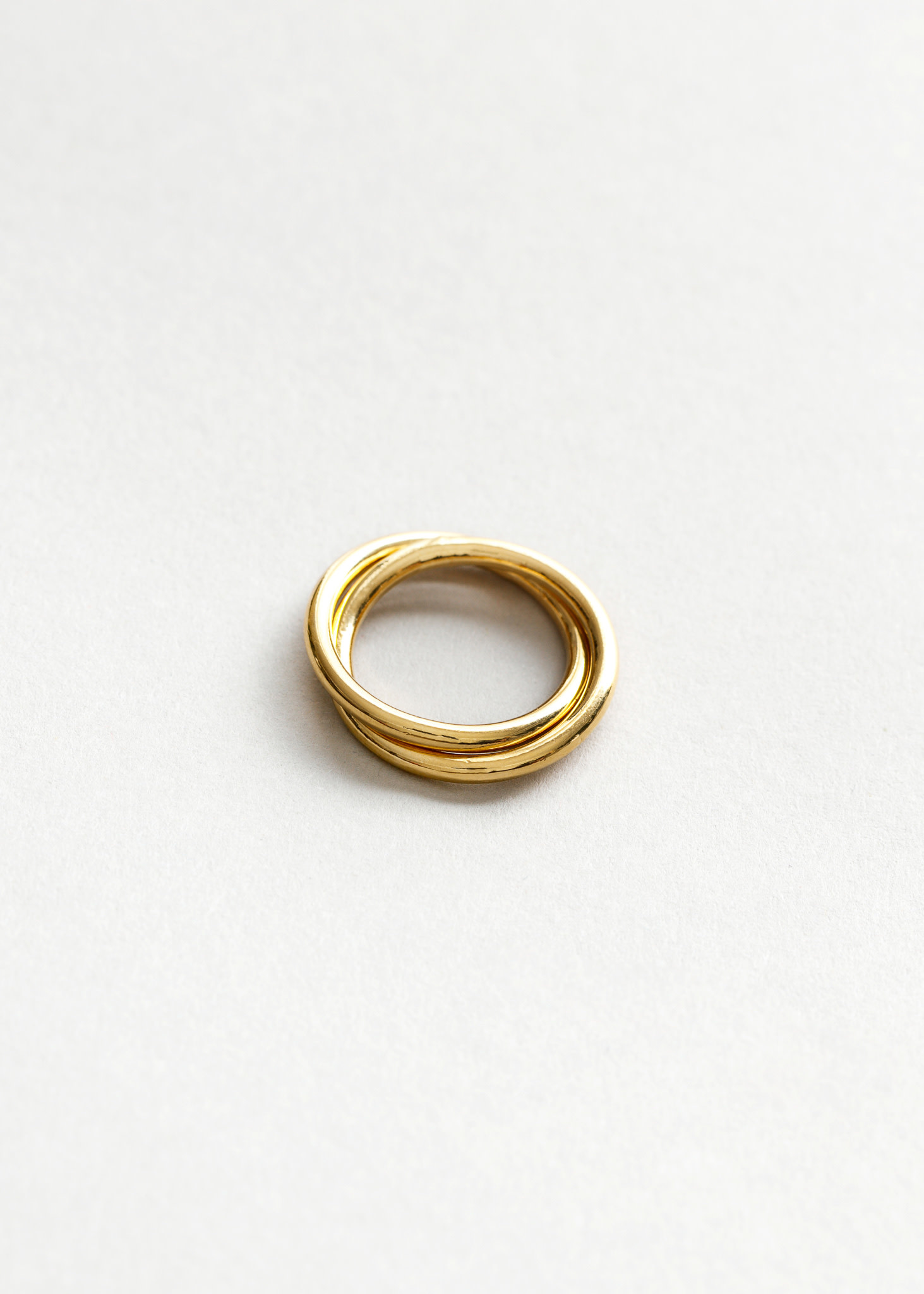 celine double band link ring gold plated