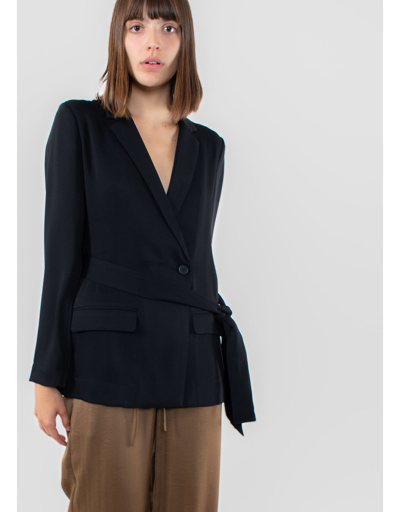 YAYA Sporty wrap blazer black