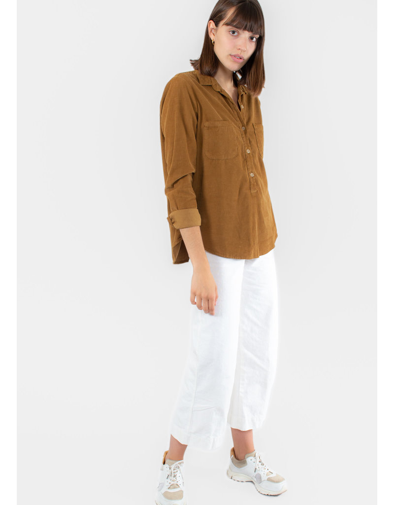 VELVET Arielle Corduroy button up blouse