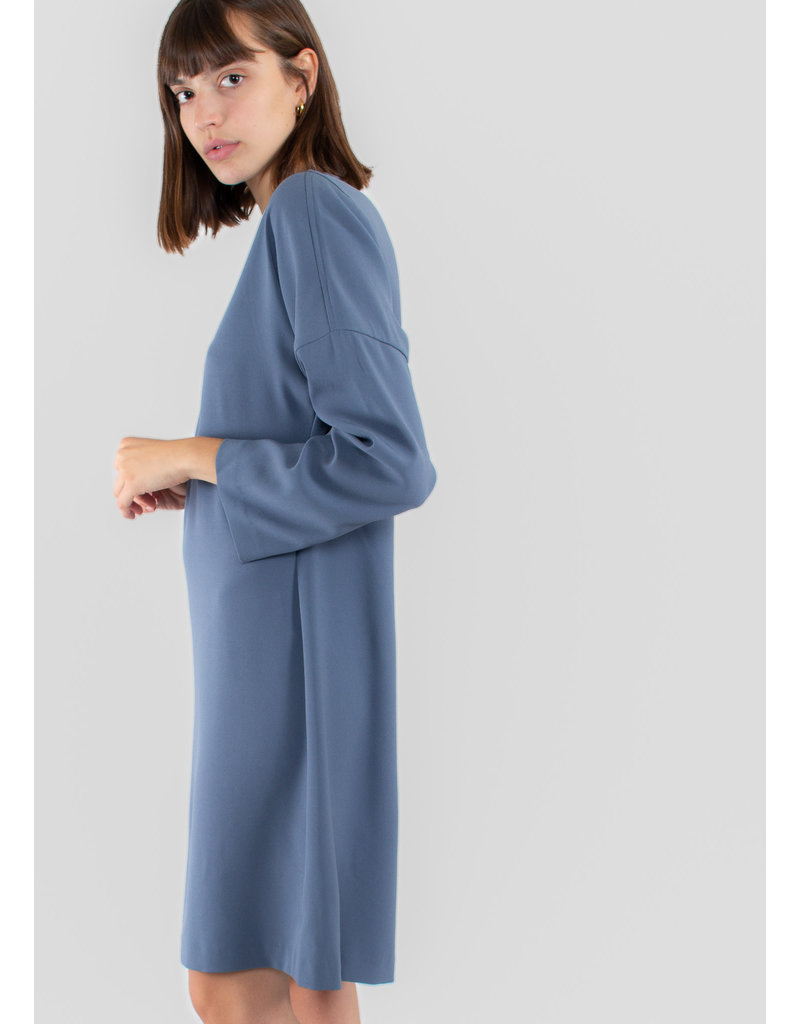 Filippa K Meghan Dress blue grey