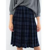 VELVET Lucille Rayon plaid skirt