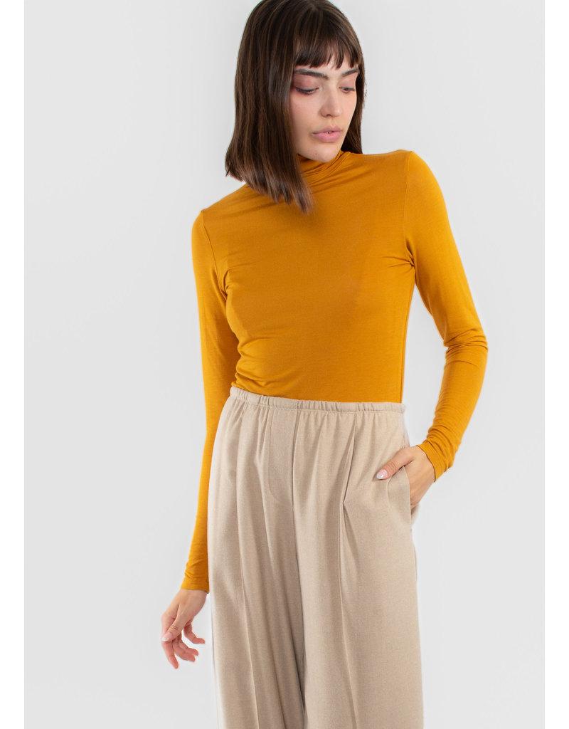 ICHI Iluca knitted shirt buckthorn brown