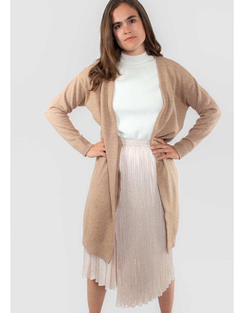 YAYA Long classic cardigan with side pockets