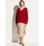 Asymmetric drape skirt desert clay