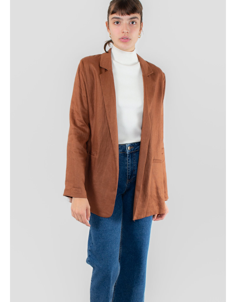 ASSEMBLY LABEL Linen Blazer Terracotta