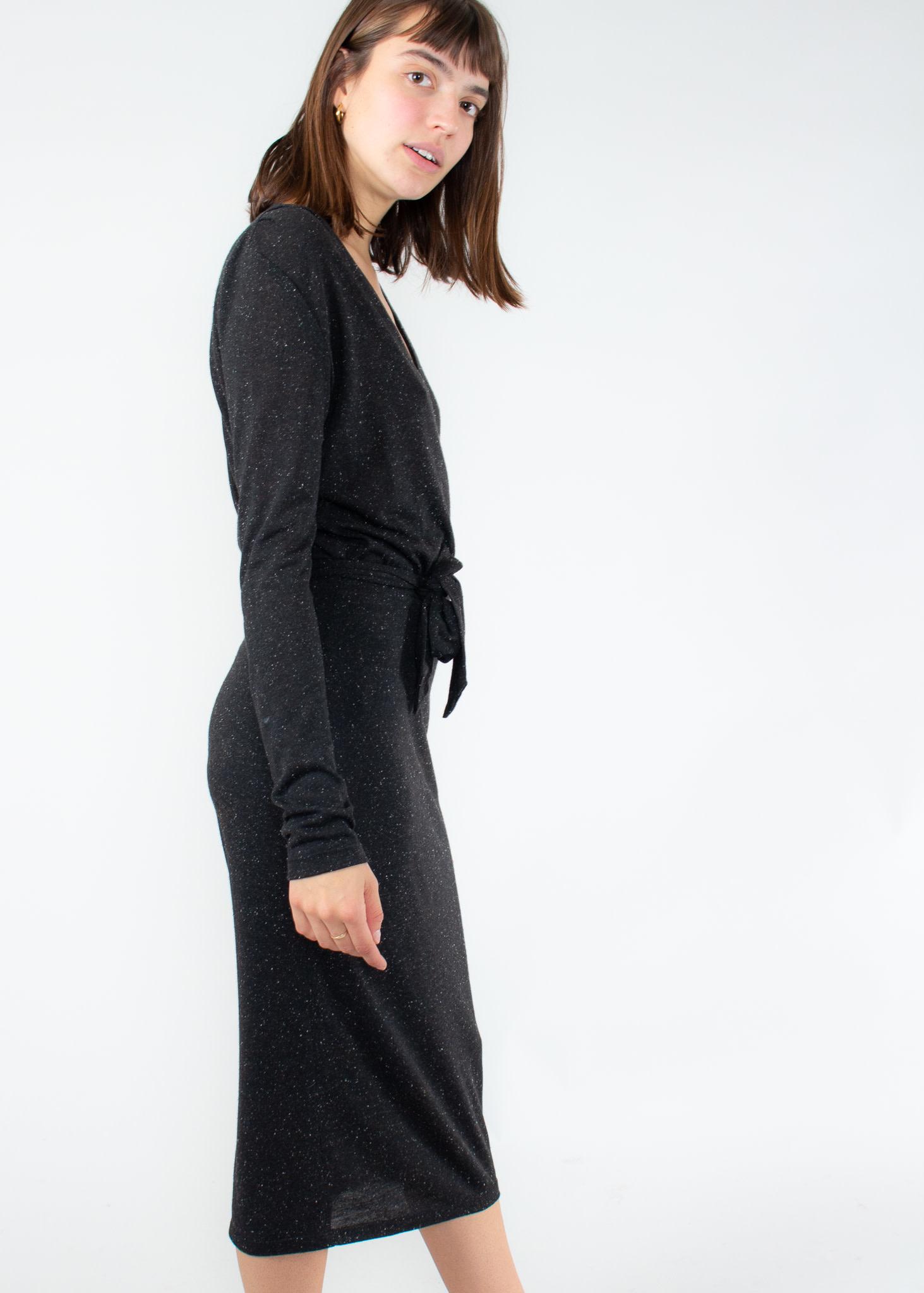 EVE GRAVEL Robe Mad Desire black jersey
