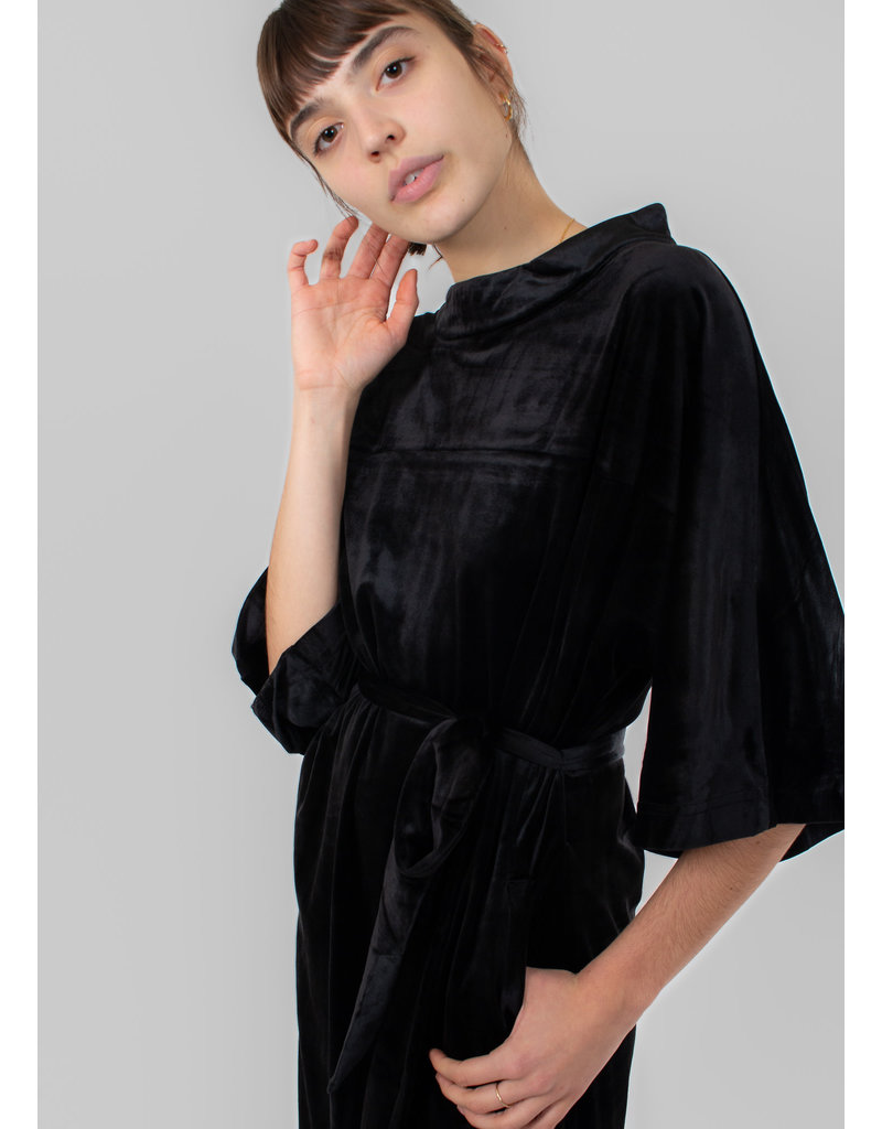 KAREN BY SIMONSEN Ocelona kimono dress meteorite black