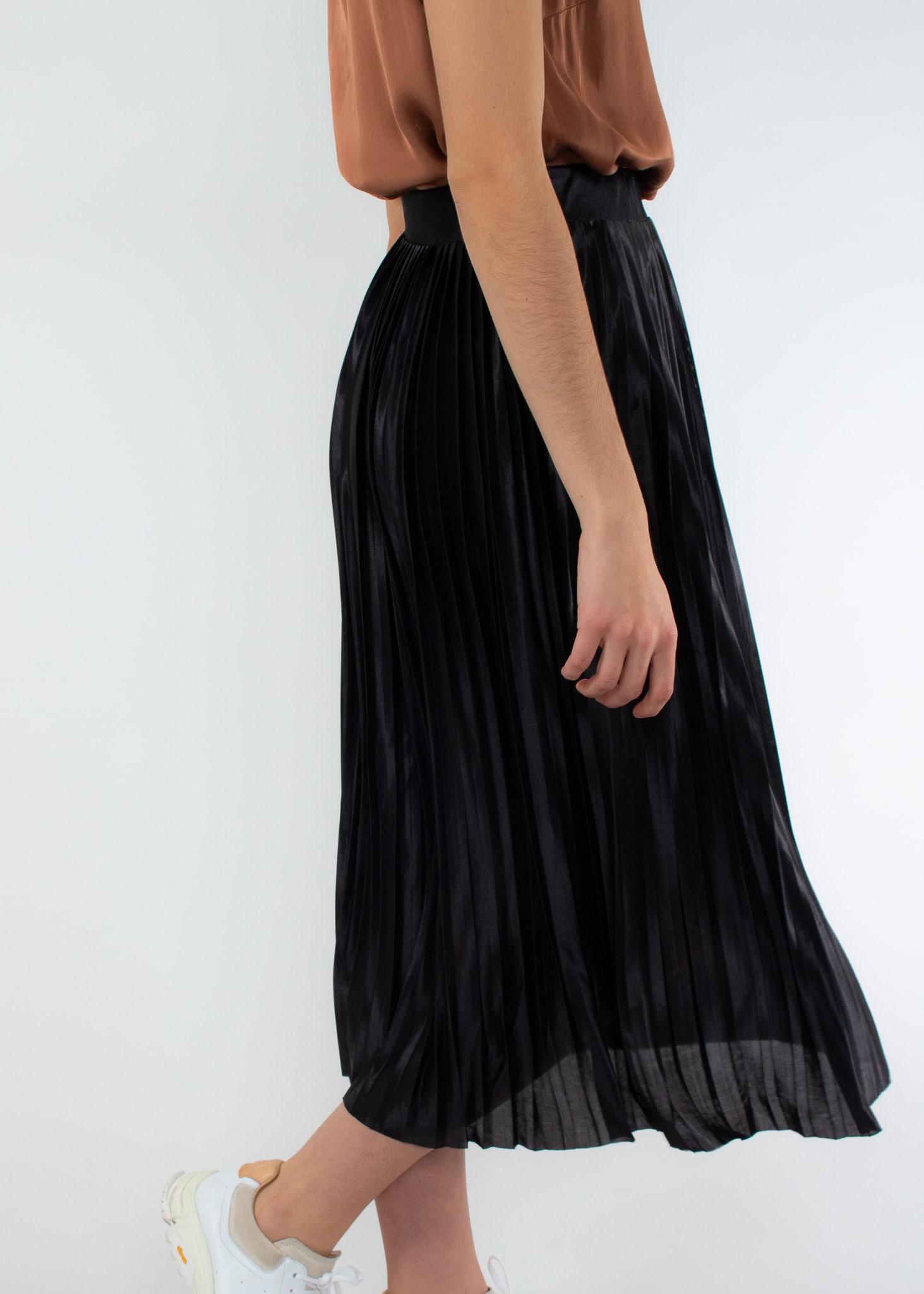 ICHI Pleat skirt black