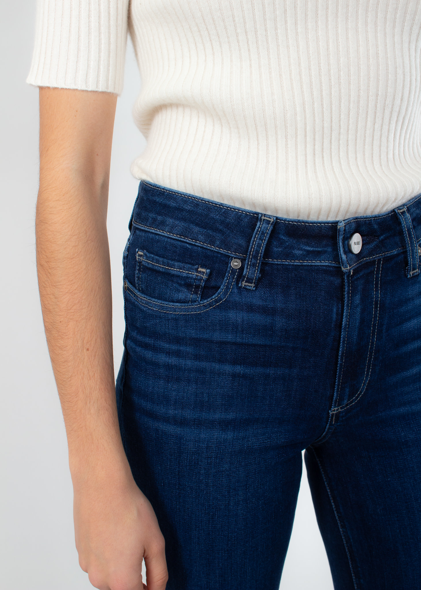 PAIGE Colette crop flare clean hem brentwood jeans