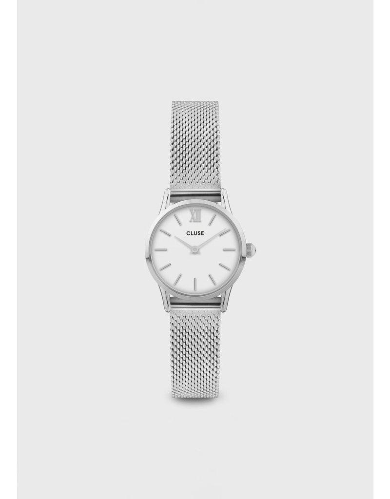 CLUSE La Vedette mesh silver/white