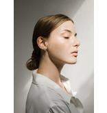 MAKSYM 2 tones loop earrings - Silver and gold earrings