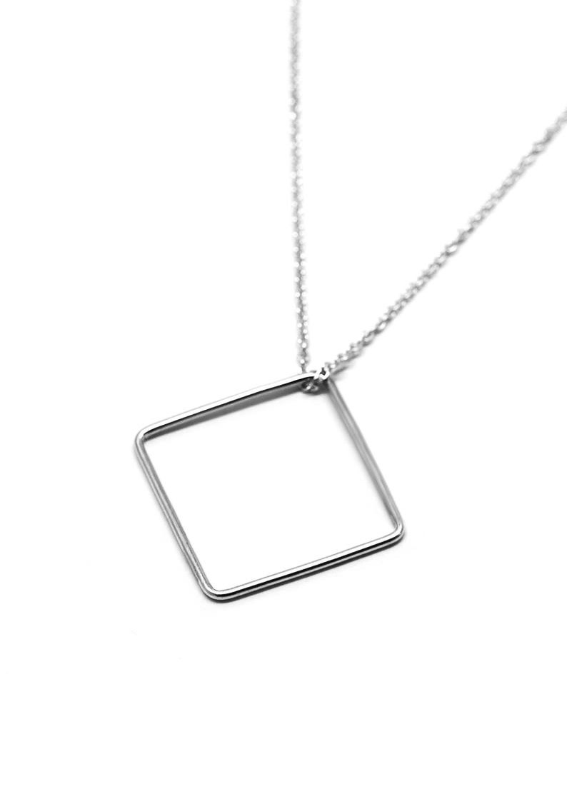 MAKSYM Square necklace - Long square pendant