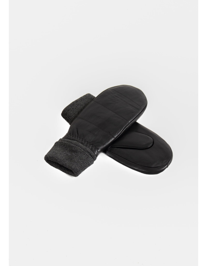 ICHI Box glove black leather