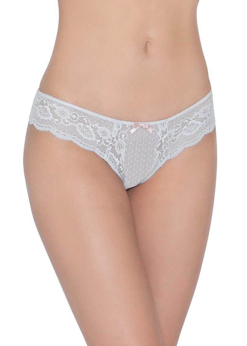 EBERJEY Anouk classic lace thong grey stone