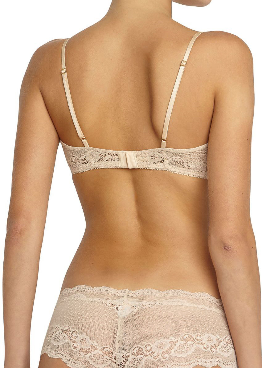 EBERJEY Anouk classic lace bralet nude