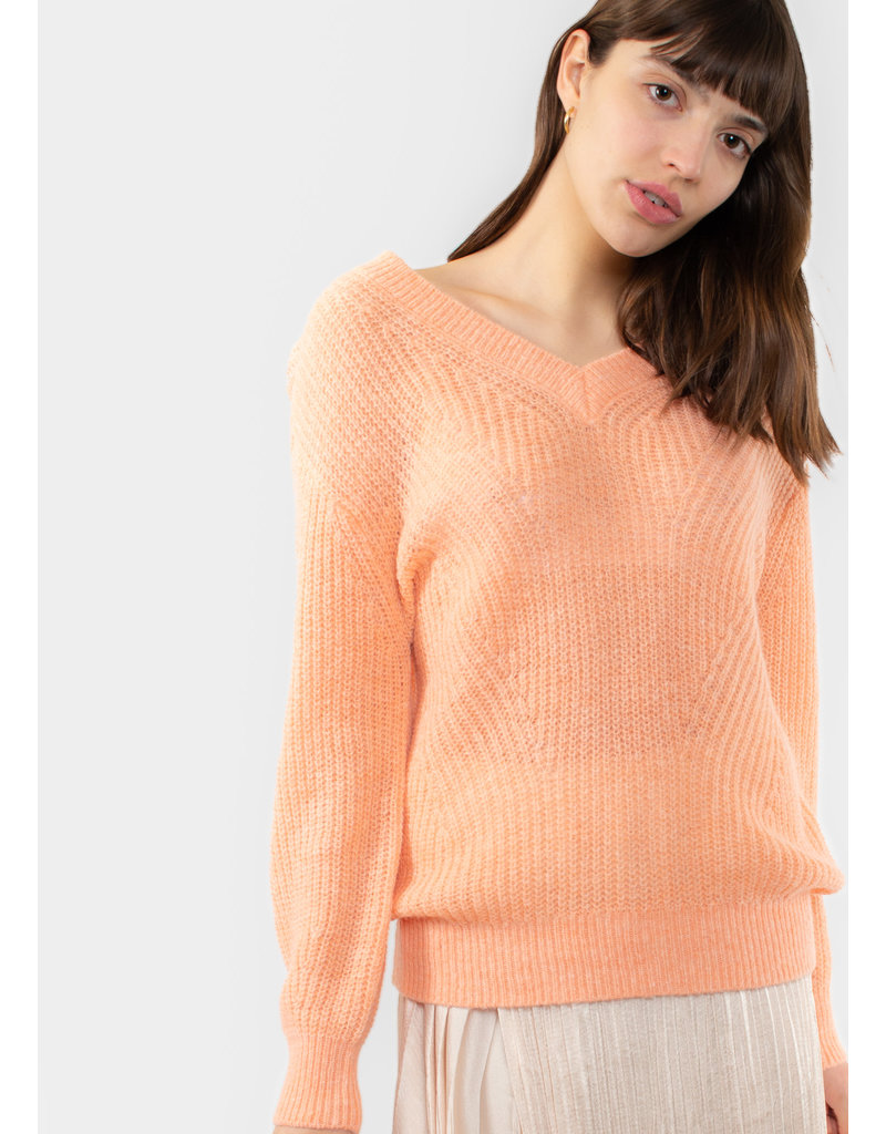 YAYA Pullover soft knit v-neck