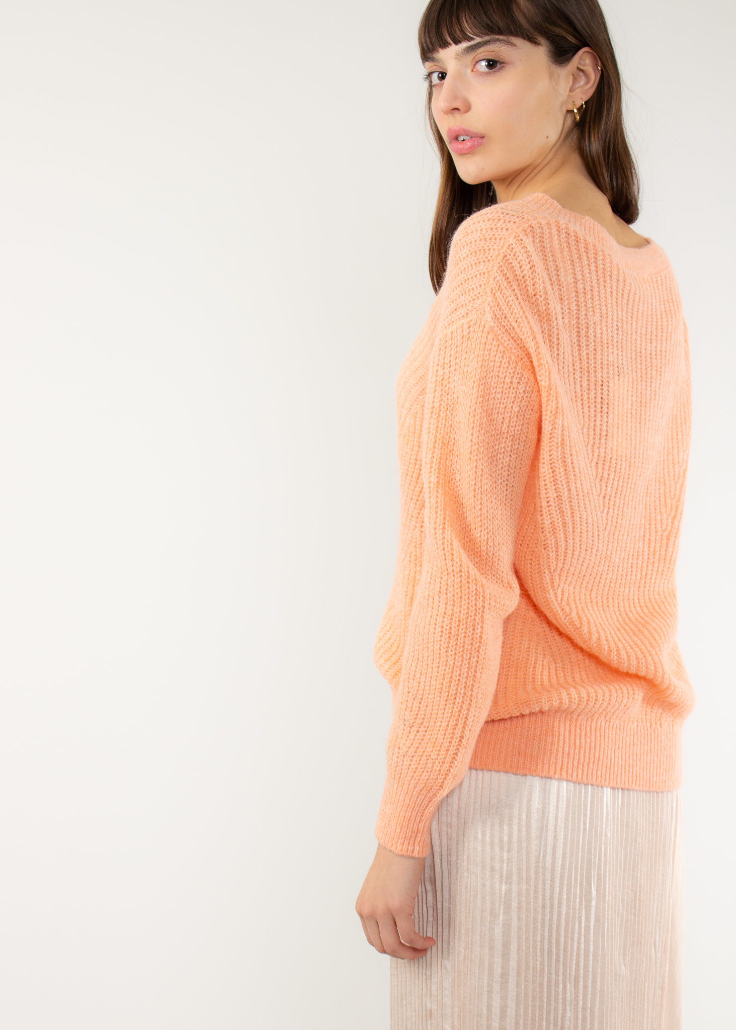 YAYA Pullover soft knit v-neck