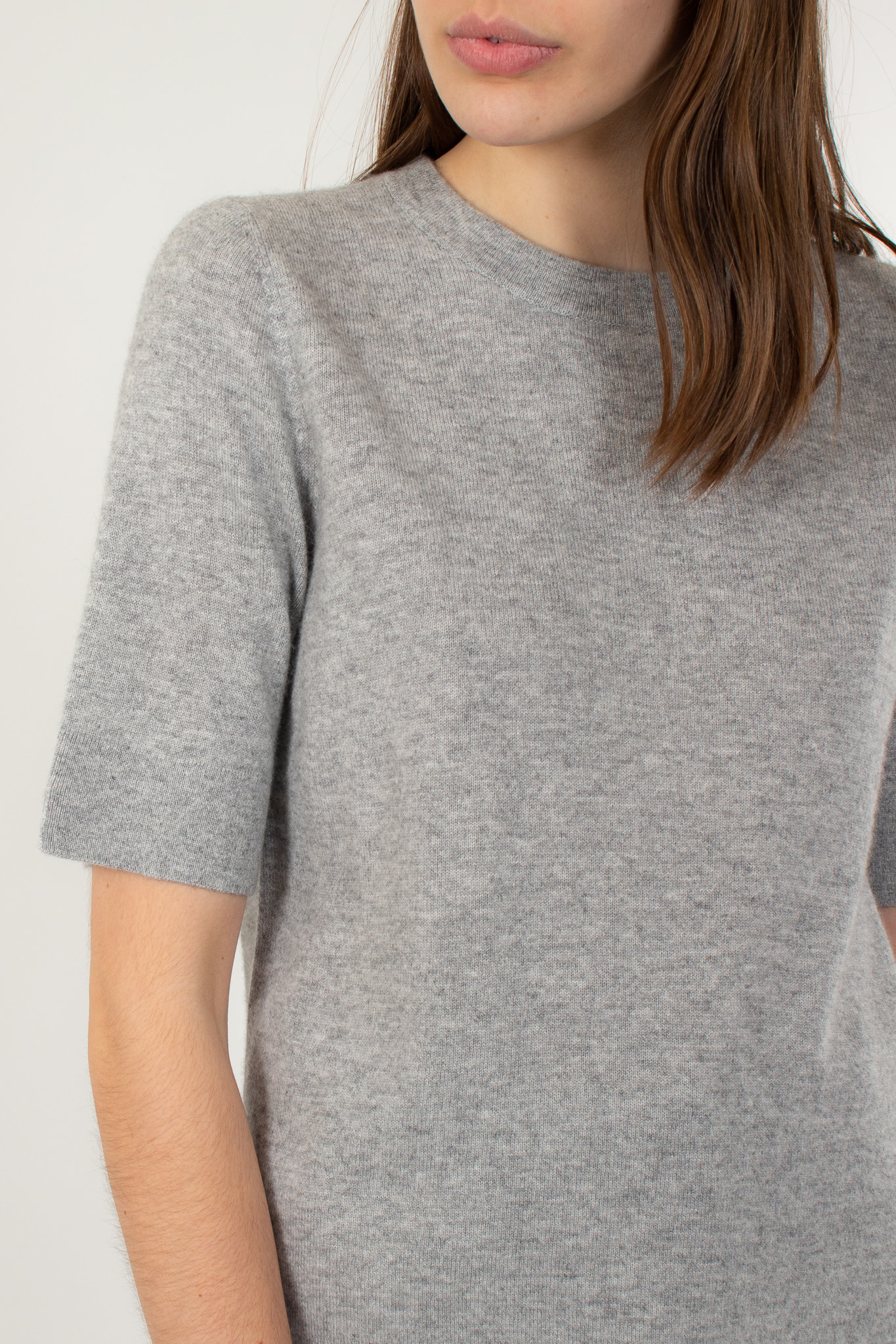REPEAT Cashmere pull short slv