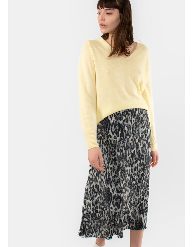 YAYA Printed wrap skirt