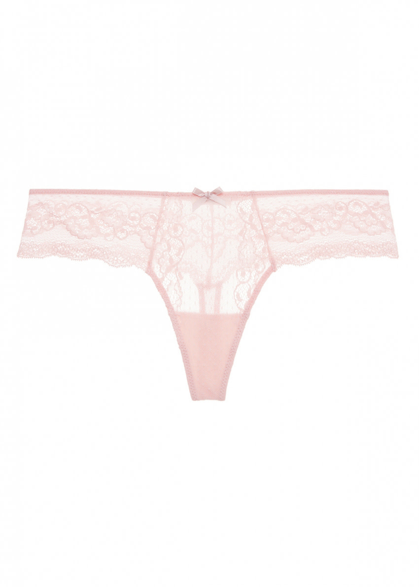 EBERJEY Anouk classic lace thong strawberry