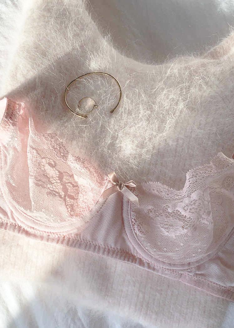 EBERJEY Anouk classic lace bra strawberry