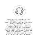 DEUX LIONS Gemini necklace