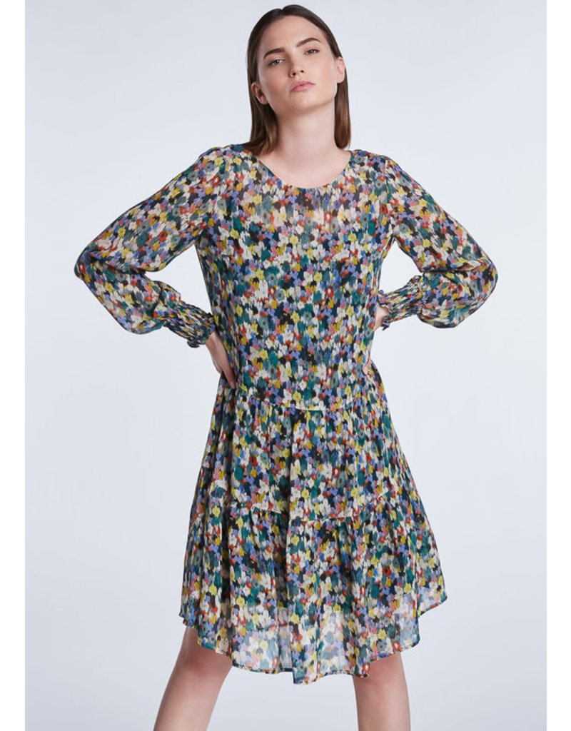 SET Feminine blossom print dress