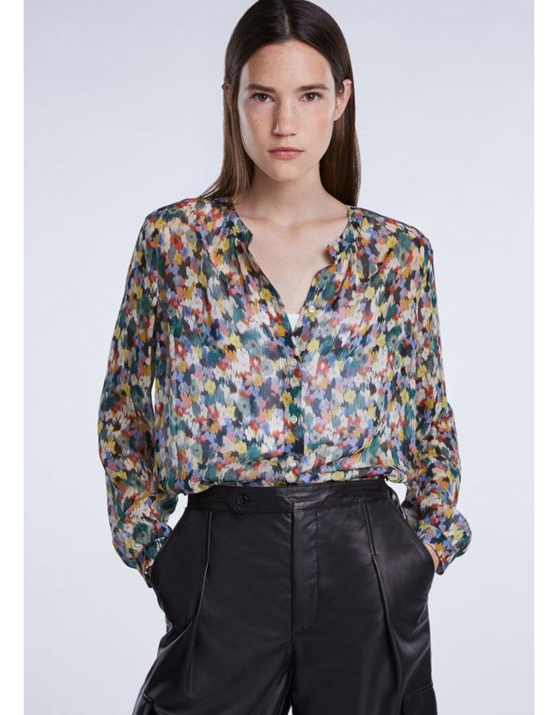 SET Feminine blossom print blouse