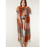 The Korner Grey-orange scarf