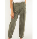 SET Casual washed cotton pant