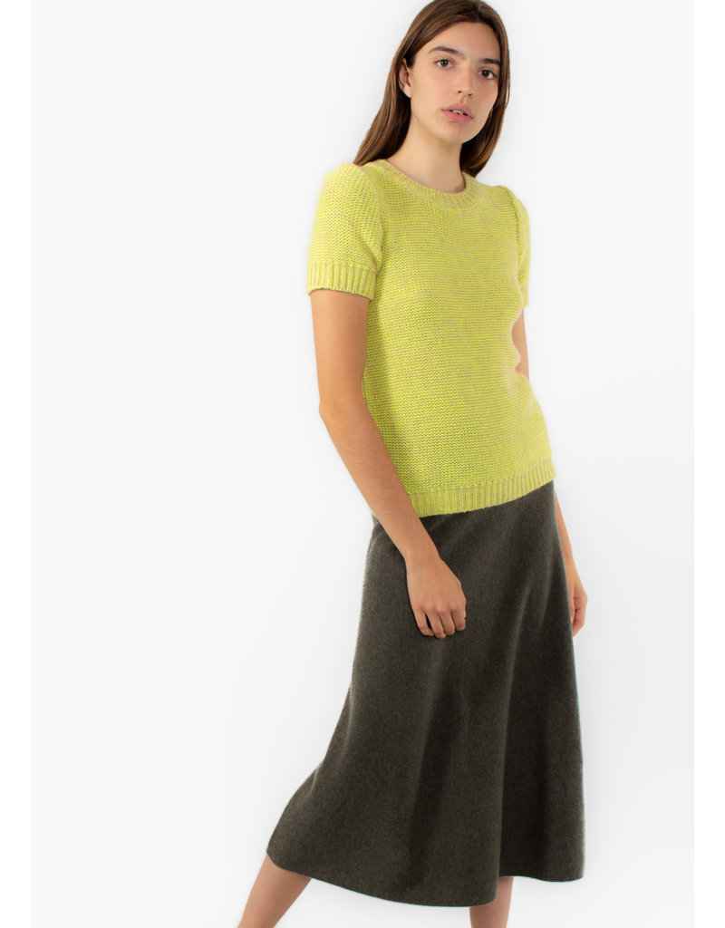 REPEAT Cashmere skirt khaki