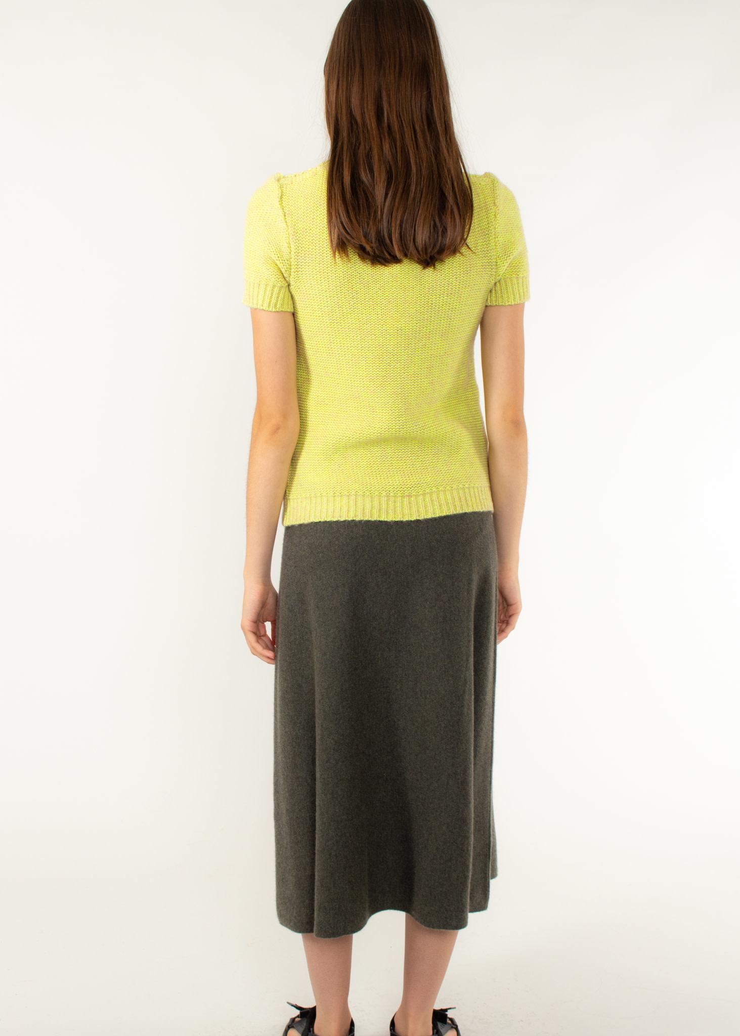 REPEAT Cashmere skirt khaki