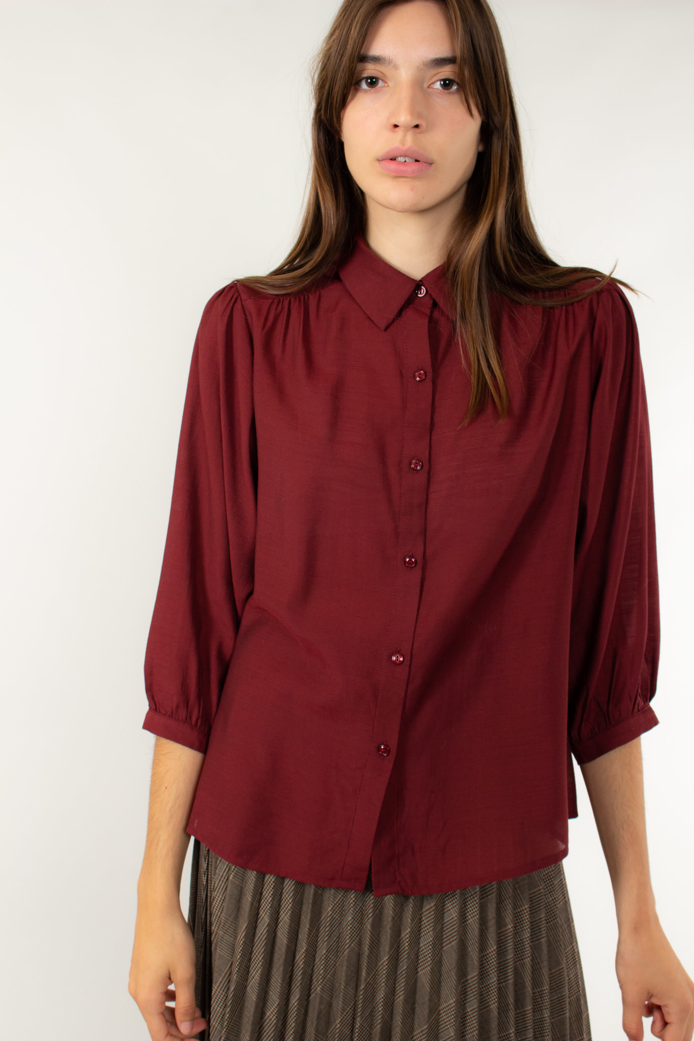 The Korner Blouse wine