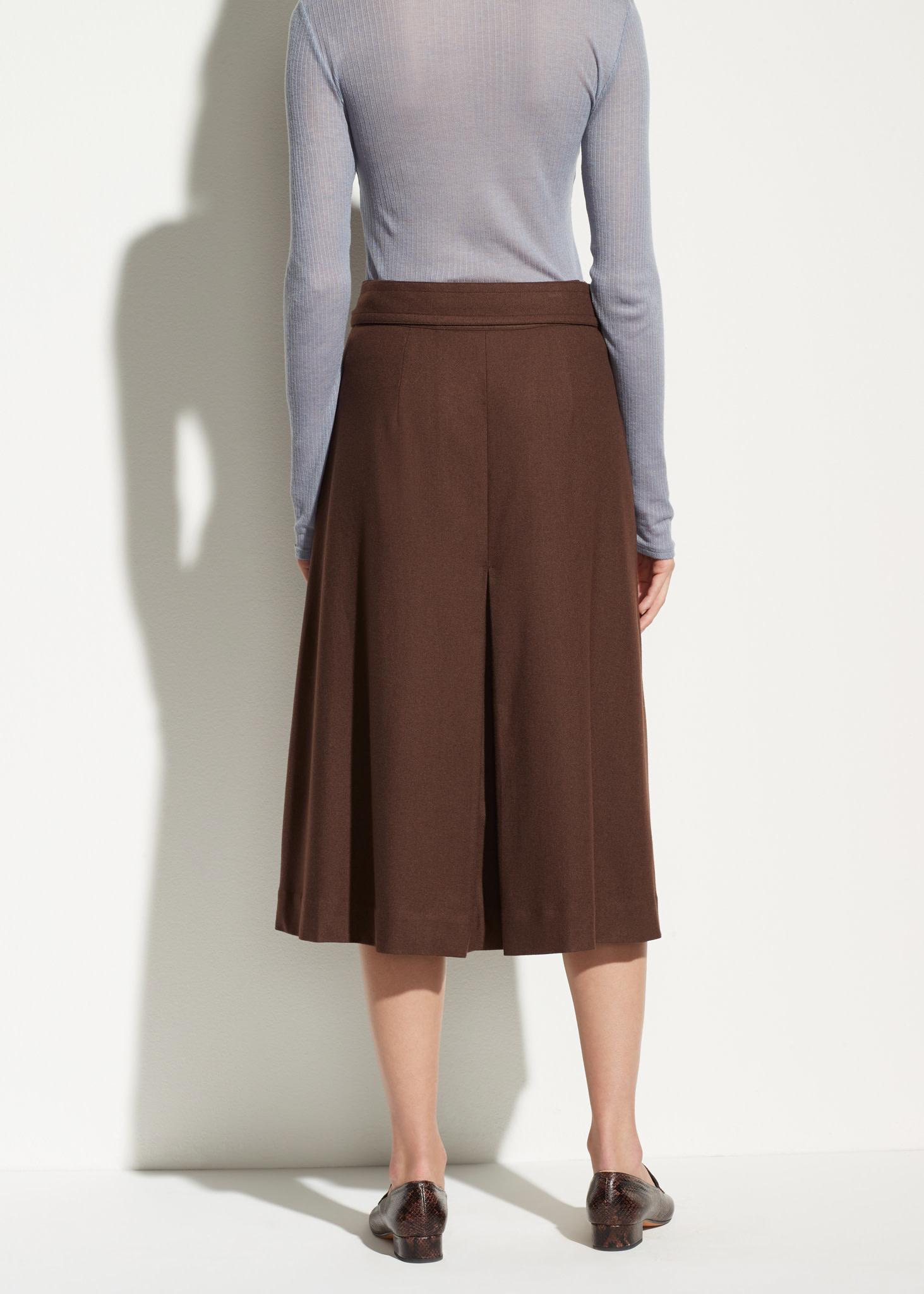 High waist belted skirt