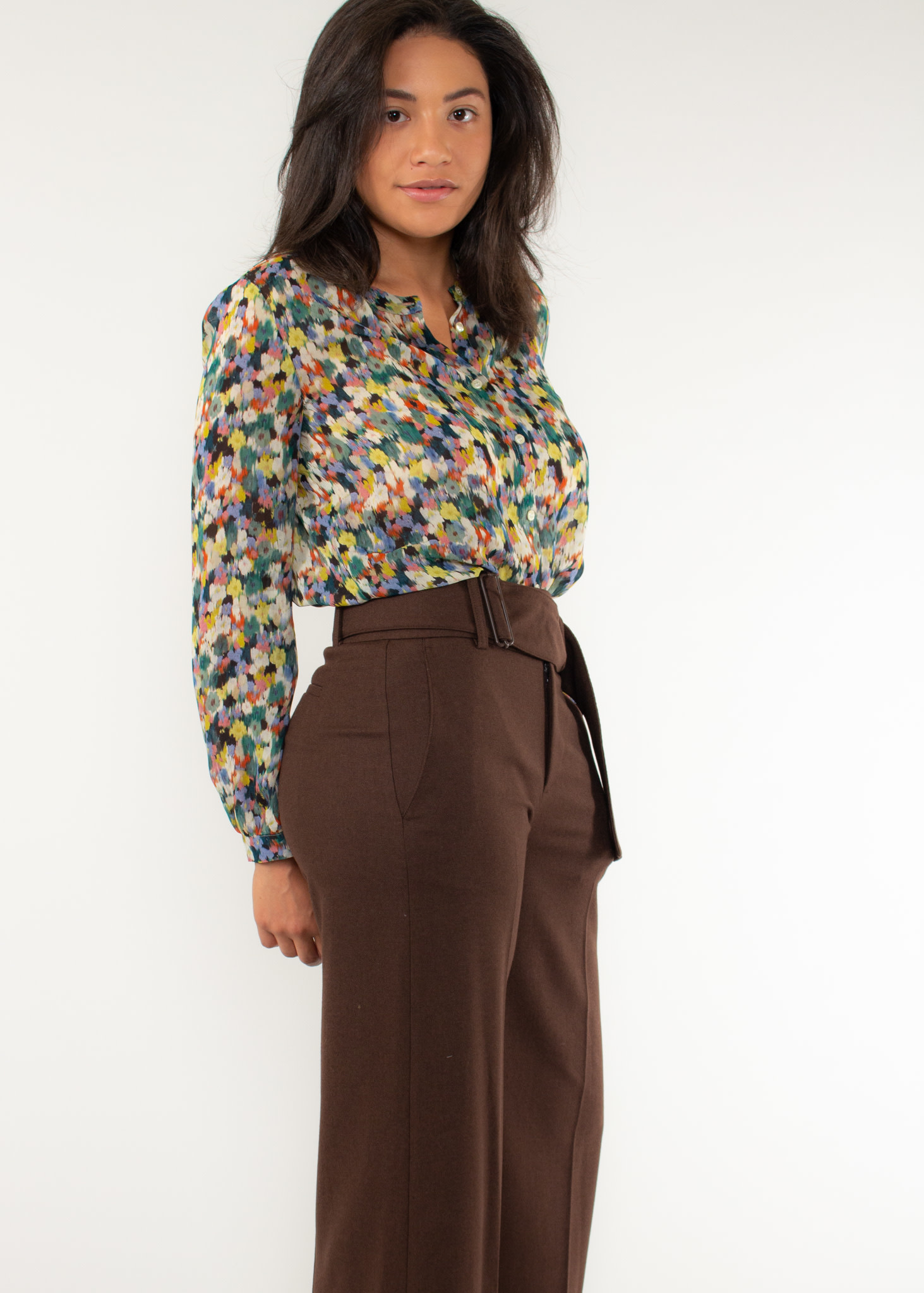 Wide leg belted culotte