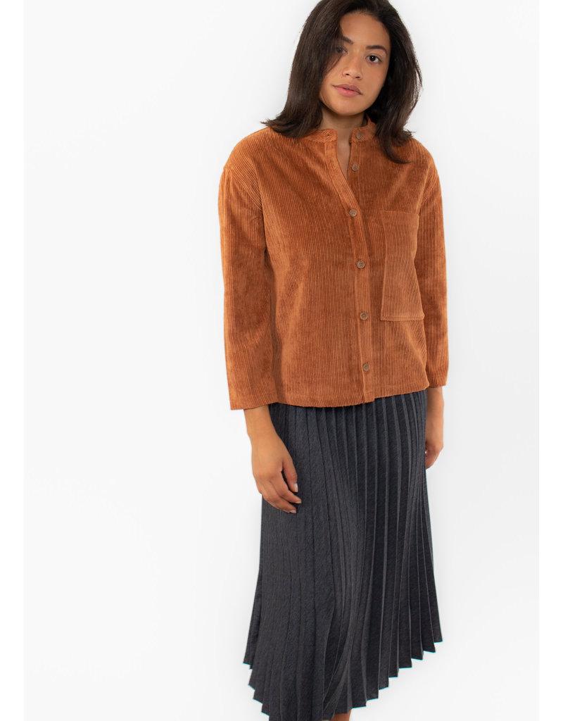 YAYA Rib cord shirt with pocket yaya